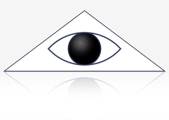 The masonic symbol of the eye in the triangle. God's Eye