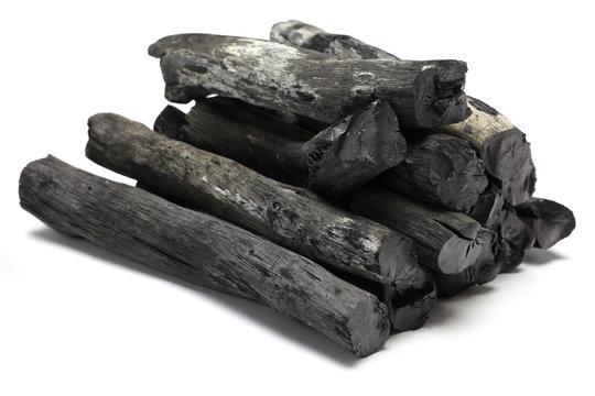 kishu binchotan, japanese traditional white charcoal