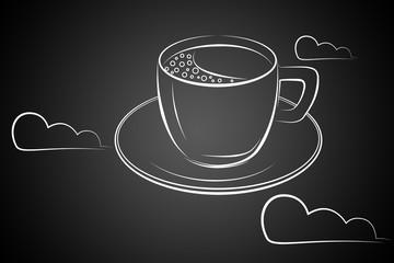 Coffee cup art illustration