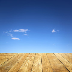 Fototapete - Wolken / Holz / Hintergrund