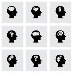 Vector thoughts icon set