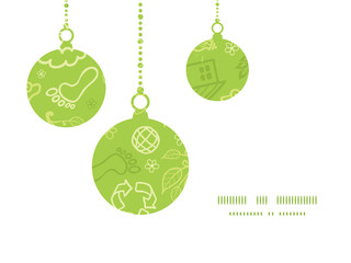 Vector environmental Christmas ornaments silhouettes pattern