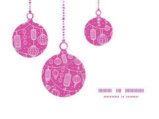 Vector holiday lanterns line art Christmas ornaments silhouettes