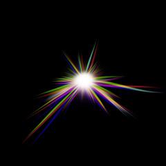 RGB plasma star illustration