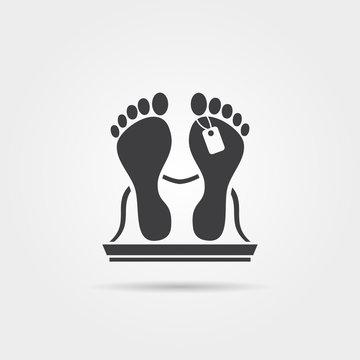 Dead body icon
