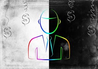 Businessman art illustration