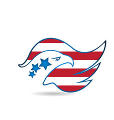 American Eagle Flag logo vector template