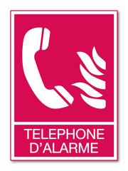 Panneau téléphone de secours.
