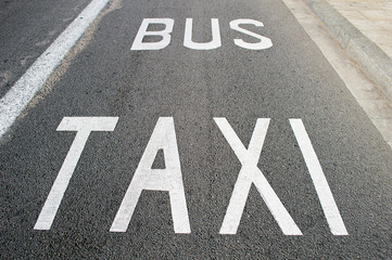 taxi and bus lane