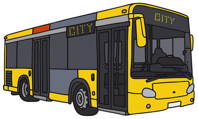 Hand drawing of a city bus - not a real model