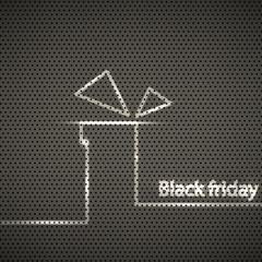 black friday metal texture background, vector illustration
