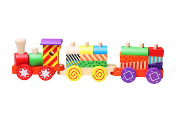 wooden toy train for children