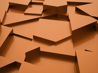 Orange triangle abstract background concept