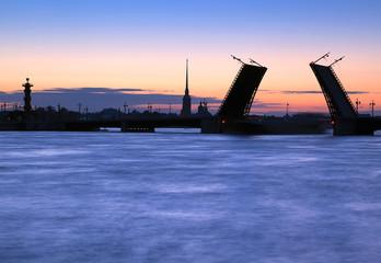 Divorced Bridge in St. Petersburg