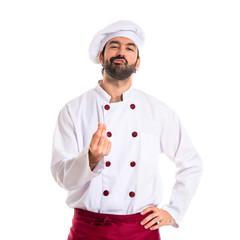 Chef doing italian gesture