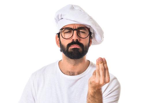 Chef doing italian sign