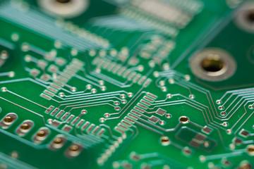 Green PCB (close-up shot)