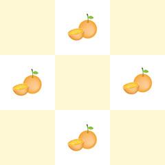 Abstract geometric retro seamless orange background.