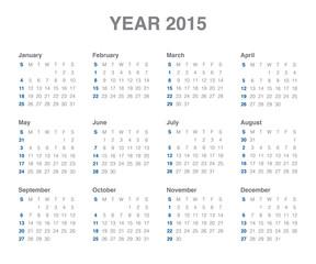 Calender 2015
