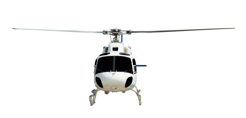 Flying helicopter with working propeller Wall mural