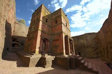 Unique rock-hewn Church of St. George, Lalibela, Ethiopia.