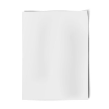 Vector sheet of white paper isolated