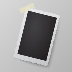 Blank photo frame looking like retro photograph