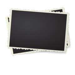 Retro photo frame isolated