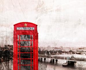 Rote Telefonzelle London, Vintage