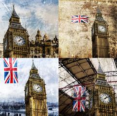 London, Big Ben Composing Vintage