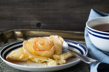 Mini Rose Shaped Apple Tart