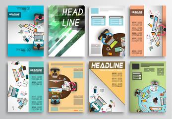 Set of Flyer Design, Infographic layout. Brochure Designs