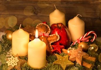 erste lichter im advent