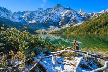 Morskie Oko lake in autumn colours, High Tatra Mountains, Poland