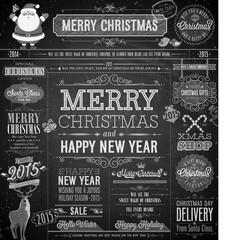 Wall Mural - Christmas set - labels