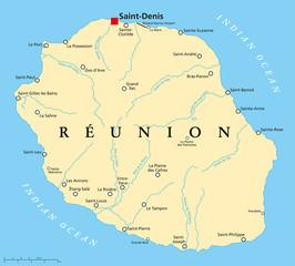 Reunion Political Map
