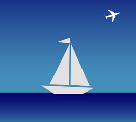 The boat and airplane