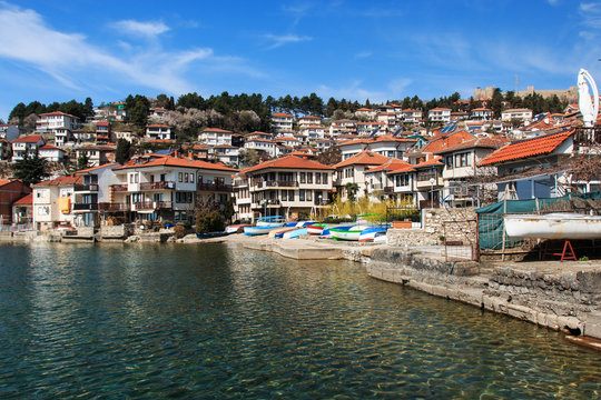 Ohrid lake and old town