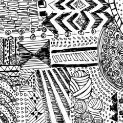 pattern background sketch black and white line