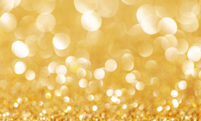 Golden Abstract Elegant Christmas background.