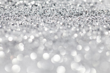 defocused abstract silver winter background
