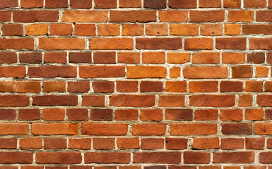Red brick wall seamless background pattern