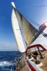 Fototapete - sail boat in the ocean