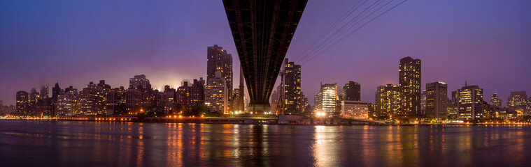 Queen Bridge, New York skyline