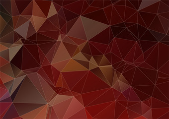 Dark brown abstract triangle background