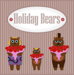 Holiday Bears. Set