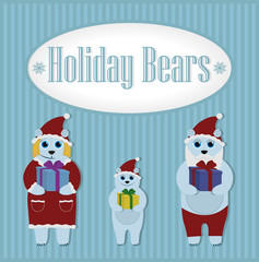 Holiday Bears. Winter. Set
