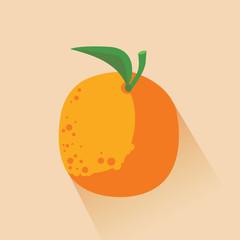 Orange on light orange background, flat image