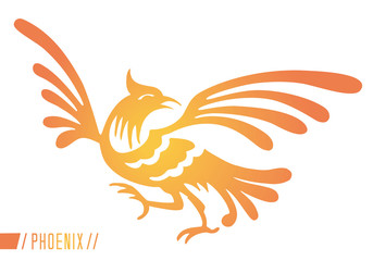 yellow and orange representation of the mythical Phoenix