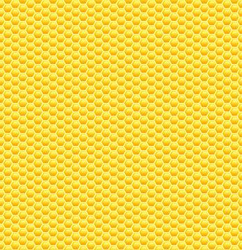 Seamless glossy yellow honeycomb pattern.